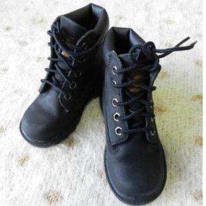 Timberland 6 inch Premium Black Nubuck Boots